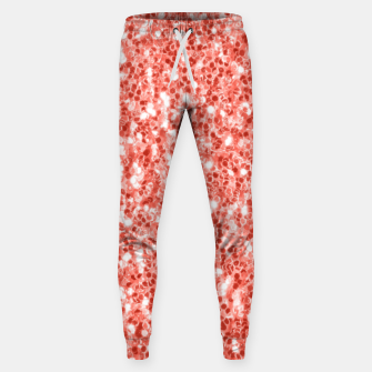 Thumbnail image of Living coral dark glitter sparkles Sweatpants, Live Heroes