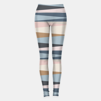 Imagen en miniatura de Scandinavian Geometry Pattern Blue #Homedecor Leggings, Live Heroes