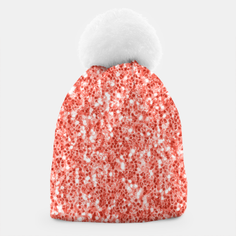 Thumbnail image of Living coral dark glitter sparkles Beanie, Live Heroes