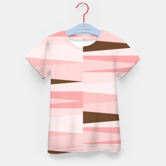 Thumbnail image of Scandinavian Geometry Pattern Pink #Homedecor Kid's t-shirt, Live Heroes