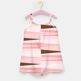 Miniaturka Scandinavian Geometry Pattern Pink #Homedecor Girl's dress, Live Heroes
