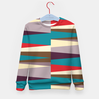 Imagen en miniatura de Scandinavian Geometry Pattern Red #Homedecor Kid's sweater, Live Heroes