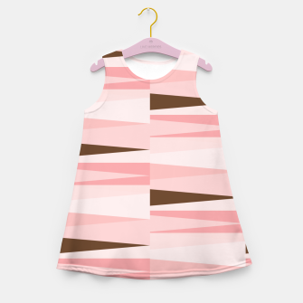 Imagen en miniatura de Scandinavian Geometry Pattern Pink #Homedecor Girl's summer dress, Live Heroes