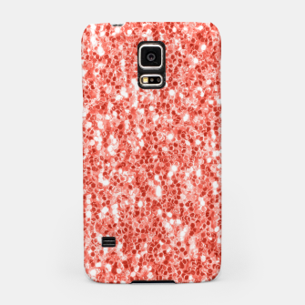 Thumbnail image of Living coral dark glitter sparkles Samsung Case, Live Heroes