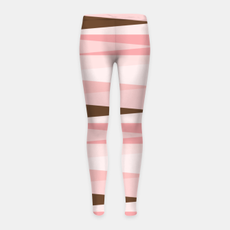 Miniaturka Scandinavian Geometry Pattern Pink #Homedecor Girl's leggings, Live Heroes