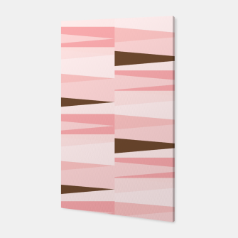 Thumbnail image of Scandinavian Geometry Pattern Pink #Homedecor Canvas, Live Heroes