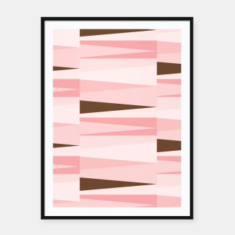 Thumbnail image of Scandinavian Geometry Pattern Pink #Homedecor Framed poster, Live Heroes
