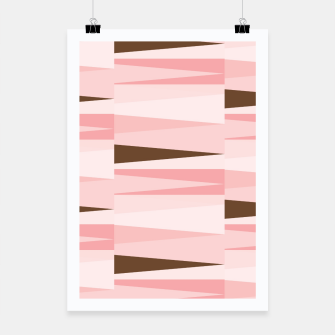 Thumbnail image of Scandinavian Geometry Pattern Pink #Homedecor Poster, Live Heroes