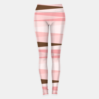 Imagen en miniatura de Scandinavian Geometry Pattern Pink #Homedecor Leggings, Live Heroes