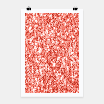 Thumbnail image of Living coral dark glitter sparkles Poster, Live Heroes