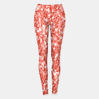 Thumbnail image of Living coral dark glitter sparkles Leggings, Live Heroes