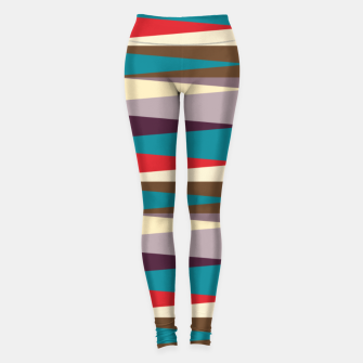 Imagen en miniatura de Scandinavian Geometry Pattern Red #Homedecor Leggings, Live Heroes