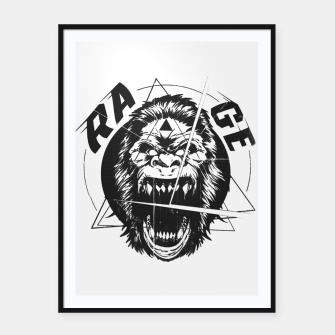 Miniatur RAGE The King of the Apes. Framed poster, Live Heroes
