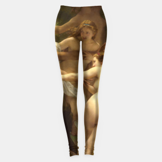 Miniaturka Nymphs and Satyr by William-Adolphe Bouguereau Leggings, Live Heroes