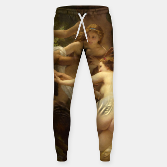 Miniaturka Nymphs and Satyr by William-Adolphe Bouguereau Sweatpants, Live Heroes