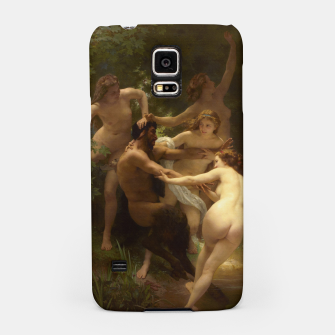 Thumbnail image of Nymphs and Satyr by William-Adolphe Bouguereau Samsung Case, Live Heroes