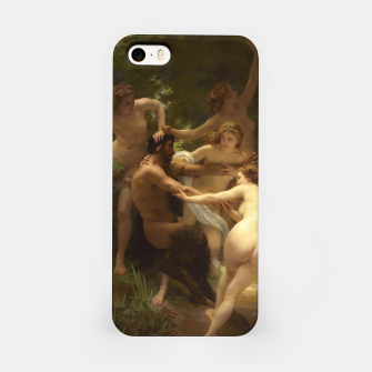 Thumbnail image of Nymphs and Satyr by William-Adolphe Bouguereau iPhone Case, Live Heroes