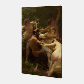 Thumbnail image of Nymphs and Satyr by William-Adolphe Bouguereau Canvas, Live Heroes