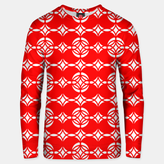 Miniaturka Abstract  pattern - red and white. Unisex sweater, Live Heroes