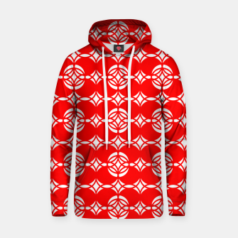 Miniatur Abstract  pattern - red and white. Hoodie, Live Heroes