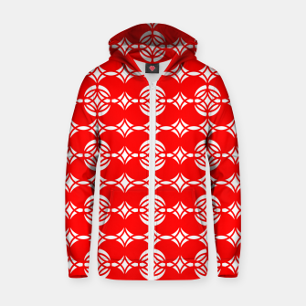 Imagen en miniatura de Abstract  pattern - red and white. Zip up hoodie, Live Heroes