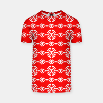 Thumbnail image of Abstract  pattern - red and white. T-shirt, Live Heroes
