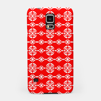 Miniatur Abstract  pattern - red and white. Samsung Case, Live Heroes