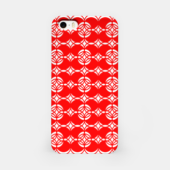 Miniaturka Abstract  pattern - red and white. iPhone Case, Live Heroes