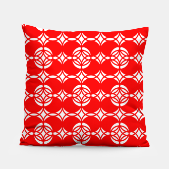 Miniatur Abstract  pattern - red and white. Pillow, Live Heroes