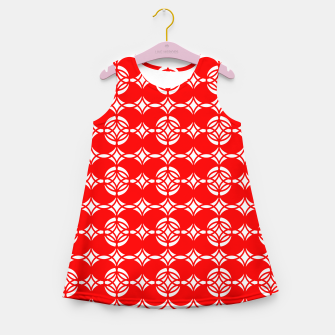Imagen en miniatura de Abstract  pattern - red and white. Girl's summer dress, Live Heroes