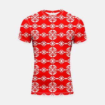 Miniaturka Abstract  pattern - red and white. Shortsleeve rashguard, Live Heroes
