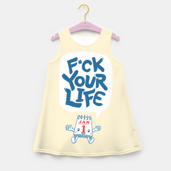 Thumbnail image of F*CK YOUR LIFE Girl's summer dress, Live Heroes