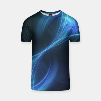 Thumbnail image of Blue pulsar Abstract Fractal Art Design T-shirt, Live Heroes
