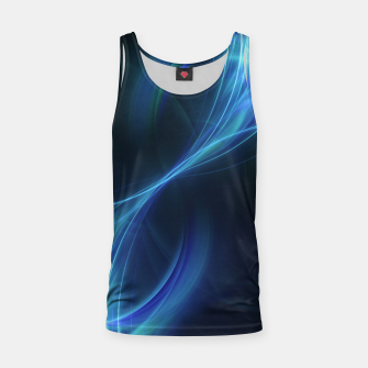 Thumbnail image of Blue pulsar Abstract Fractal Art Design Tank Top, Live Heroes