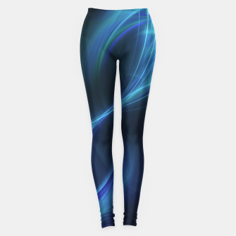 Thumbnail image of Blue pulsar Abstract Fractal Art Design Leggings, Live Heroes