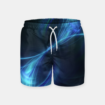 Thumbnail image of Blue pulsar Abstract Fractal Art Design Swim Shorts, Live Heroes