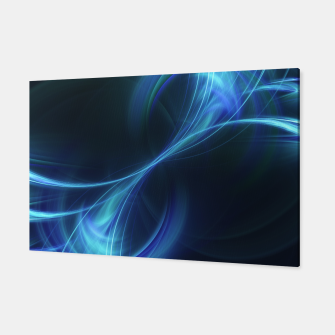 Thumbnail image of Blue pulsar Abstract Fractal Art Design Canvas, Live Heroes