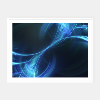 Thumbnail image of Blue pulsar Abstract Fractal Art Design Framed poster, Live Heroes