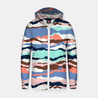 Miniature de image de Abstract Color Zip up hoodie, Live Heroes