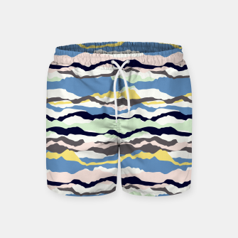 Miniatur Abstract Color Swim Shorts, Live Heroes