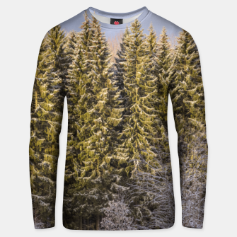 Miniature de image de Sunny winter forest Unisex sweater, Live Heroes