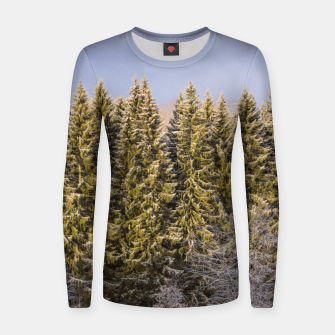 Thumbnail image of Sunny winter forest Women sweater, Live Heroes