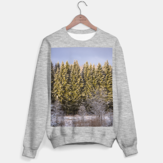 Miniature de image de Sunny winter forest Sweater regular, Live Heroes