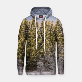 Thumbnail image of Sunny winter forest Hoodie, Live Heroes