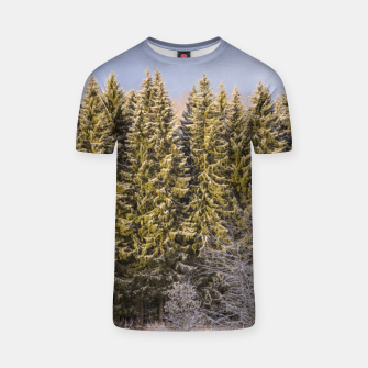 Miniature de image de Sunny winter forest T-shirt, Live Heroes