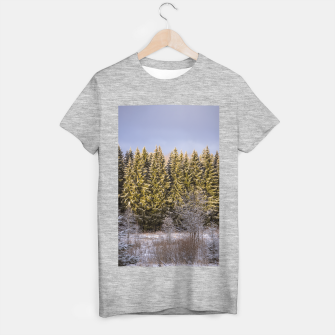 Miniature de image de Sunny winter forest T-shirt regular, Live Heroes