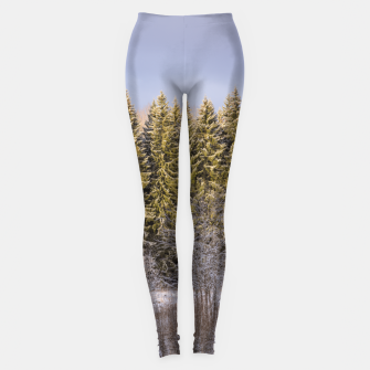 Miniature de image de Sunny winter forest Leggings, Live Heroes