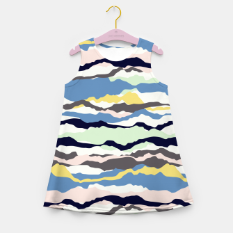 Miniatur Abstract Color Girl's summer dress, Live Heroes