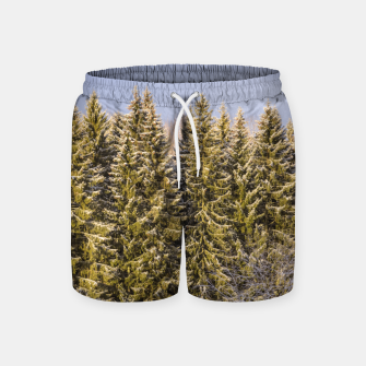 Miniature de image de Sunny winter forest Swim Shorts, Live Heroes