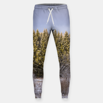 Miniature de image de Sunny winter forest Sweatpants, Live Heroes
